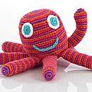 Handmade Crochet Octopus Rattle
