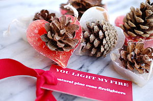You Light My Fire Heart Shaped Firelighters - fireplace accessories