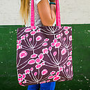 Floral Sprigs Canvas Shopper Bag