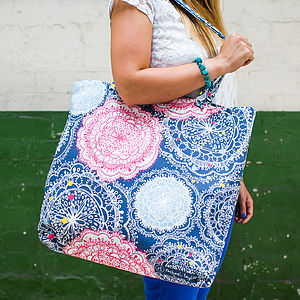 Bohemian Canvas Shopper Bag