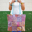 Doodle Squares Canvas Shopper Bag