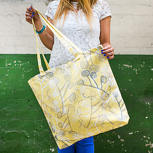 Ghost Leaves Canvas Shopper Bag - beach bags
