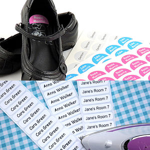 Iron And Shoe Label Pack