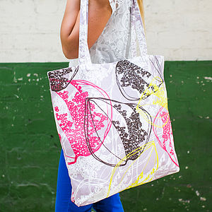 Organic Retro Leaves Canvas Shopper Bag - shopper bags