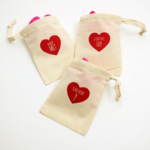 Love Heart Personalised Gift Bag - favour bags, bottles & boxes