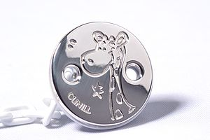 Giraffe Sterling Silver Pacifier Clip Baby Gift - baby care
