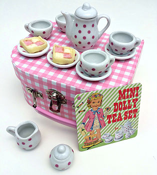 Mini Dolly Pink Retrospot Tea Set Sale