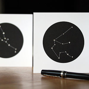 Personalised Constellation Greeting Card - birthday cards