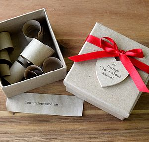 Personalised '10 Things I Love About You' Box - gifts for her