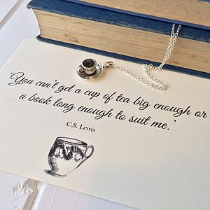 CS Lewis Teacup Necklace - charm jewellery