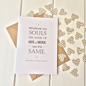 Wuthering Heights Valentines Card - wedding cards & wrap