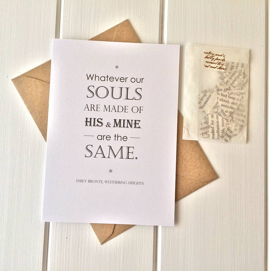 wuthering heights valentines card by literary emporium – Original Valentines Cards