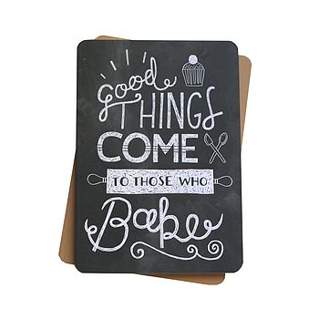 'Good Things Come To Those Who Bake' Notebook