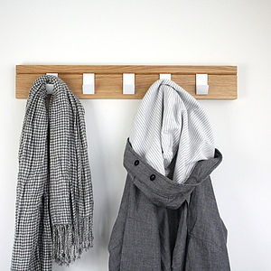 45 Oak Coat Rack