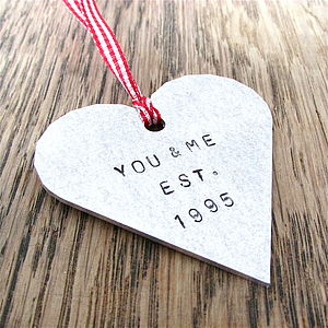 Valentine's Personalised Heart Decoration