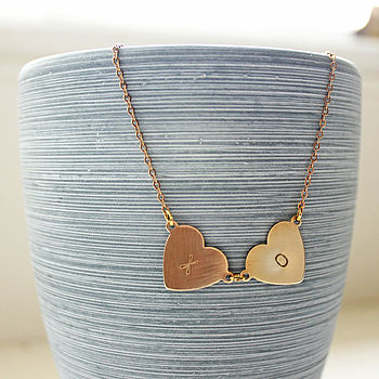 Double Love Letter Necklace