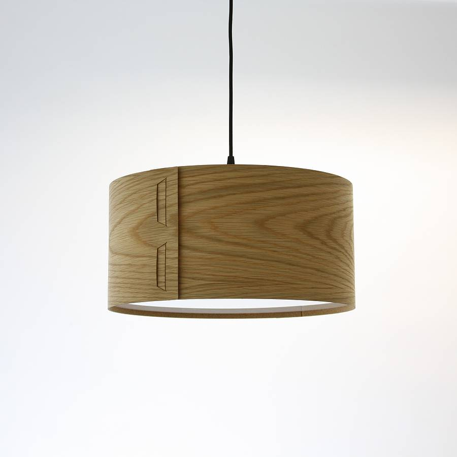 tab wood veneer light shade by john green