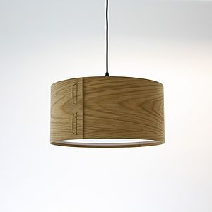 Tab   Wood Veneer Light Shade - living room