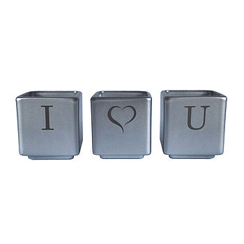 I Heart You Tealight Candle Holder Set