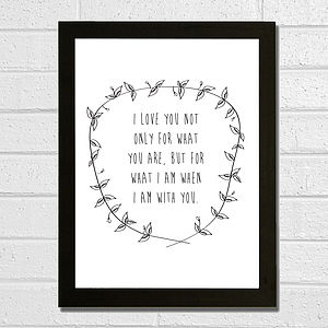 'I Love You' Poem Print - art & pictures