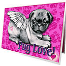Pug Love Greetings Cards