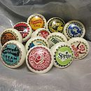 Set Of Twelve Bottle Cap Furniture Knobs