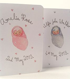 Personalised New Baby Keepsake Card - pictures & prints for children