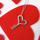 Love Key On Sterling Silver Chain