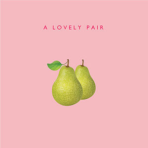 'A Lovely Pair' Card - engagement cards