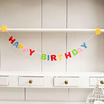 Felt Happy Birthday Garland