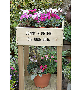 Large Personalised Raised Planter - pots & planters