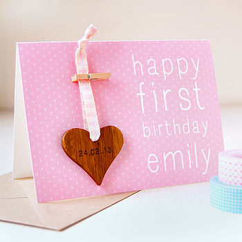 Personalised Birthday Keepsake Card