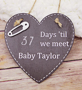 Days 'Til We Meet Our Baby   Chalkboard - children's room accessories