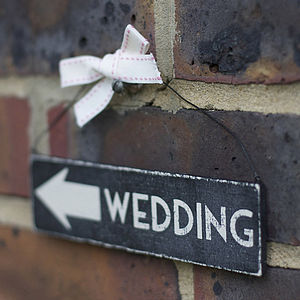 Reversible Wooden Wedding Sign - outdoor decorations