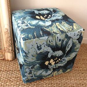 Floral Pouffe - furniture