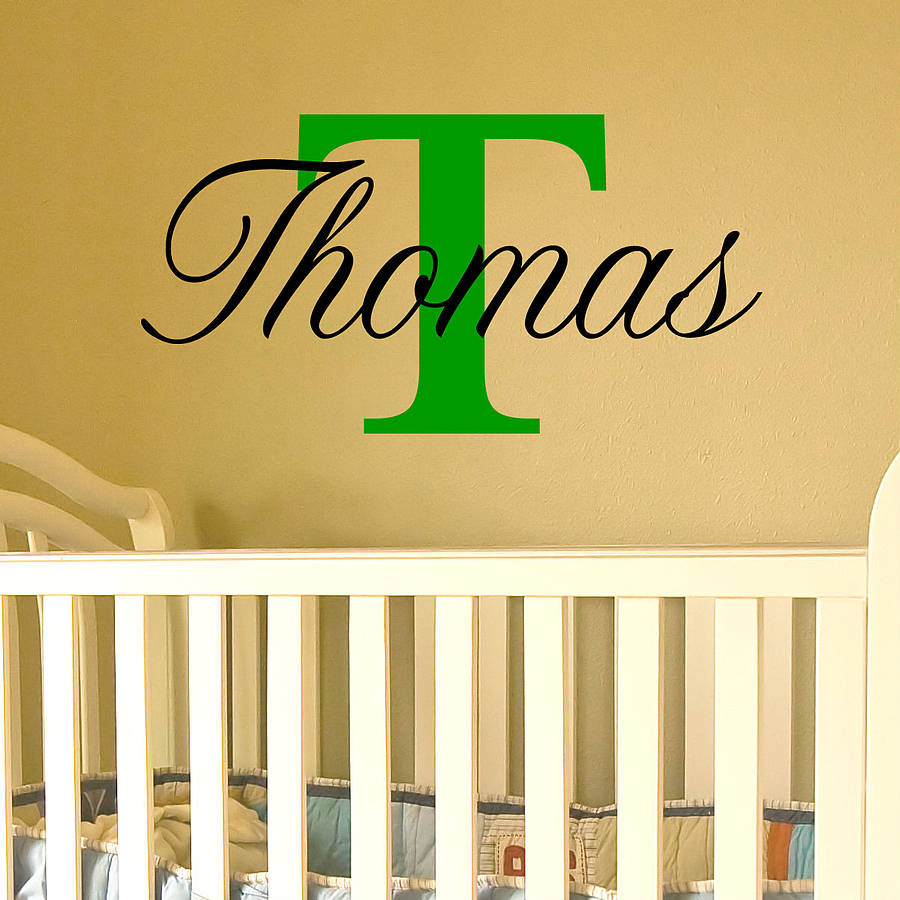 name stickers for walls by wall art quotes designs by gemma duffy. Black Bedroom Furniture Sets. Home Design Ideas