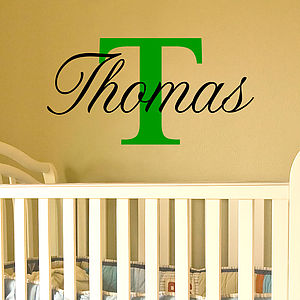 Name Stickers For Walls - children's room accessories