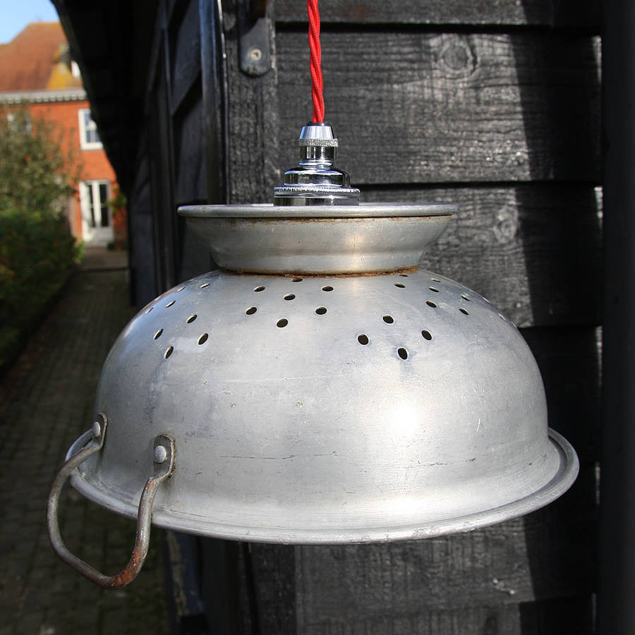 Vintage Colander Lamp By Folly & Glee