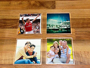 Personalised Photo Coasters - kitchen