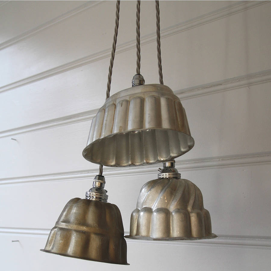 Vintage Jelly Mould Pendant Lights : vintage pendant lights - azcodes.com
