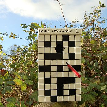 Crossword Personalised Bird Box