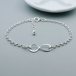 Sterling Silver Infinity Bracelet - gifts for her