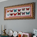 12 Butterflies LONG design 90x30cm