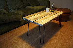Reclaimed Wood Coffee Table - furniture
