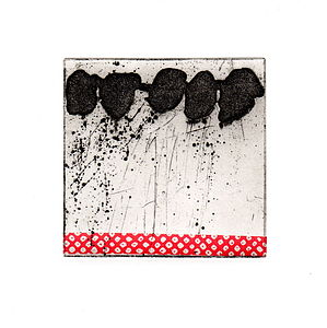 Kyoto Rain Etching - modern & abstract