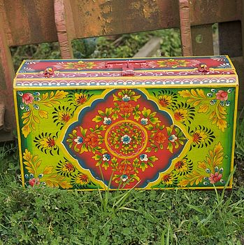 Hand Painted Storage Case