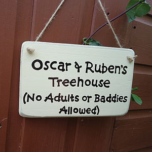 Personalised Tree House Sign - art & decorations