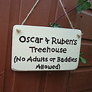 Personalised Tree House Sign