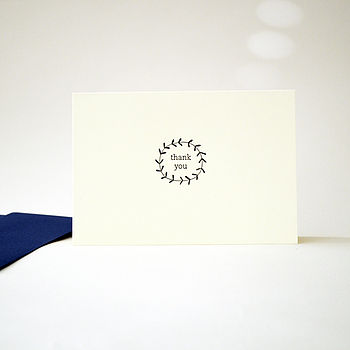 Letterpress 'Twig' Thank You Card