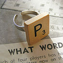 Personalised Handmade Vintage Scrabble Ring